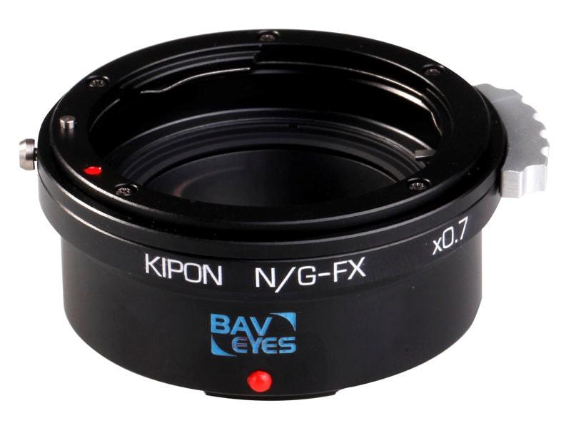 Kipon Adapter För Fuji X Body Baveyes Nikon G-FX 0.7X