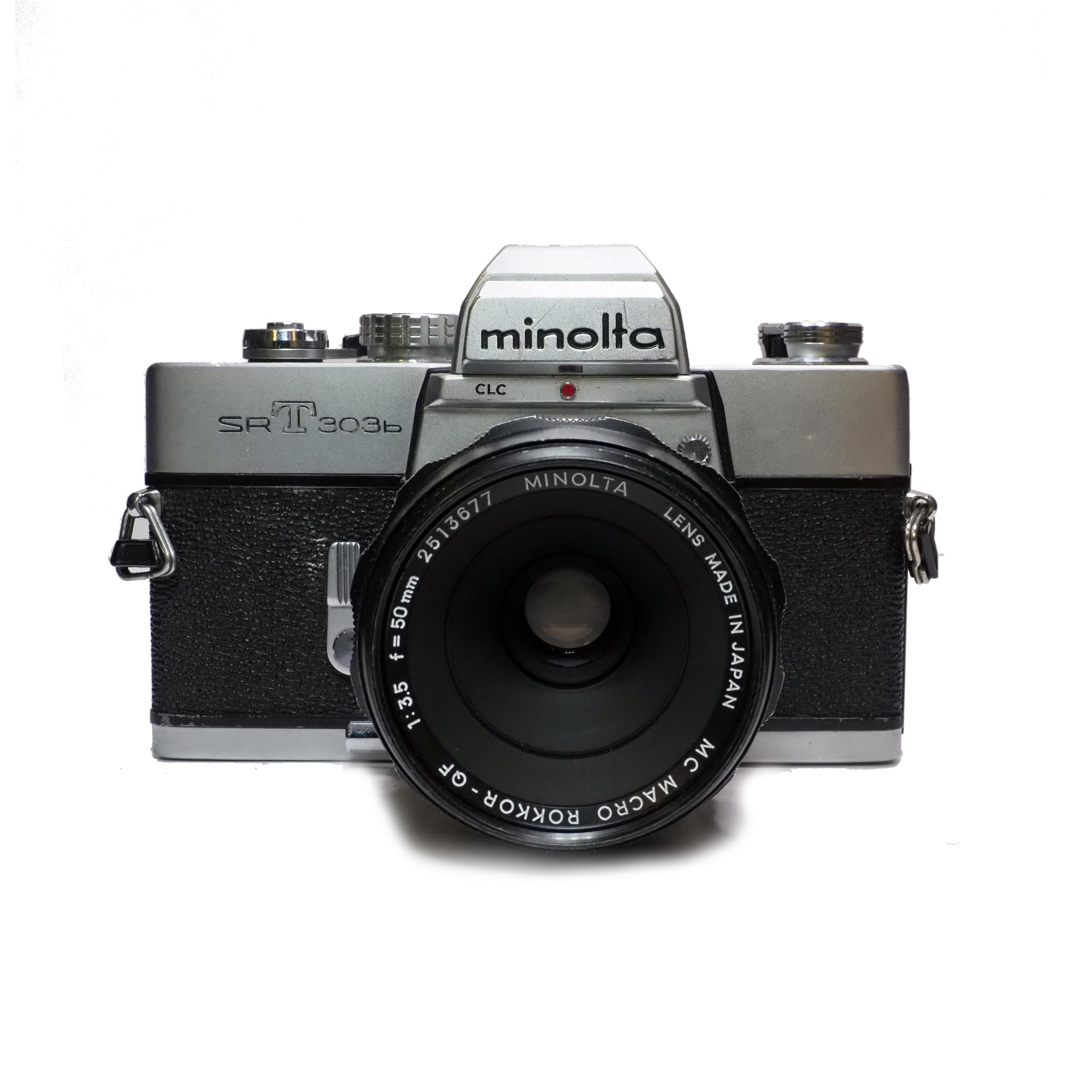 Minolta SRT303b inkl. Macro Rokkor 50mm f/3,5 - BEGAGNAT