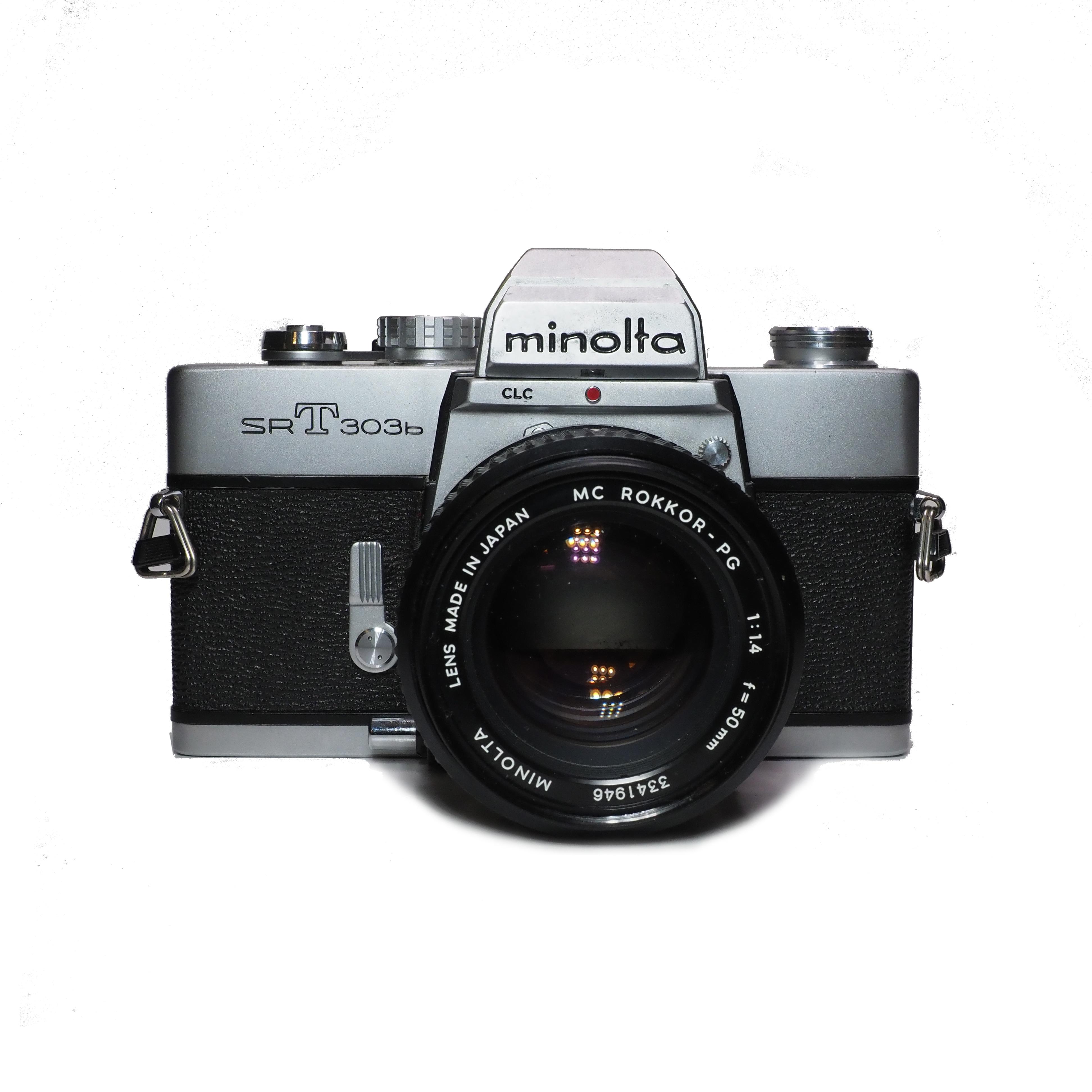Minolta SRT303b inkl. Minolta MC ROKKOR 50mm f/1,4 - BEGAGNAT