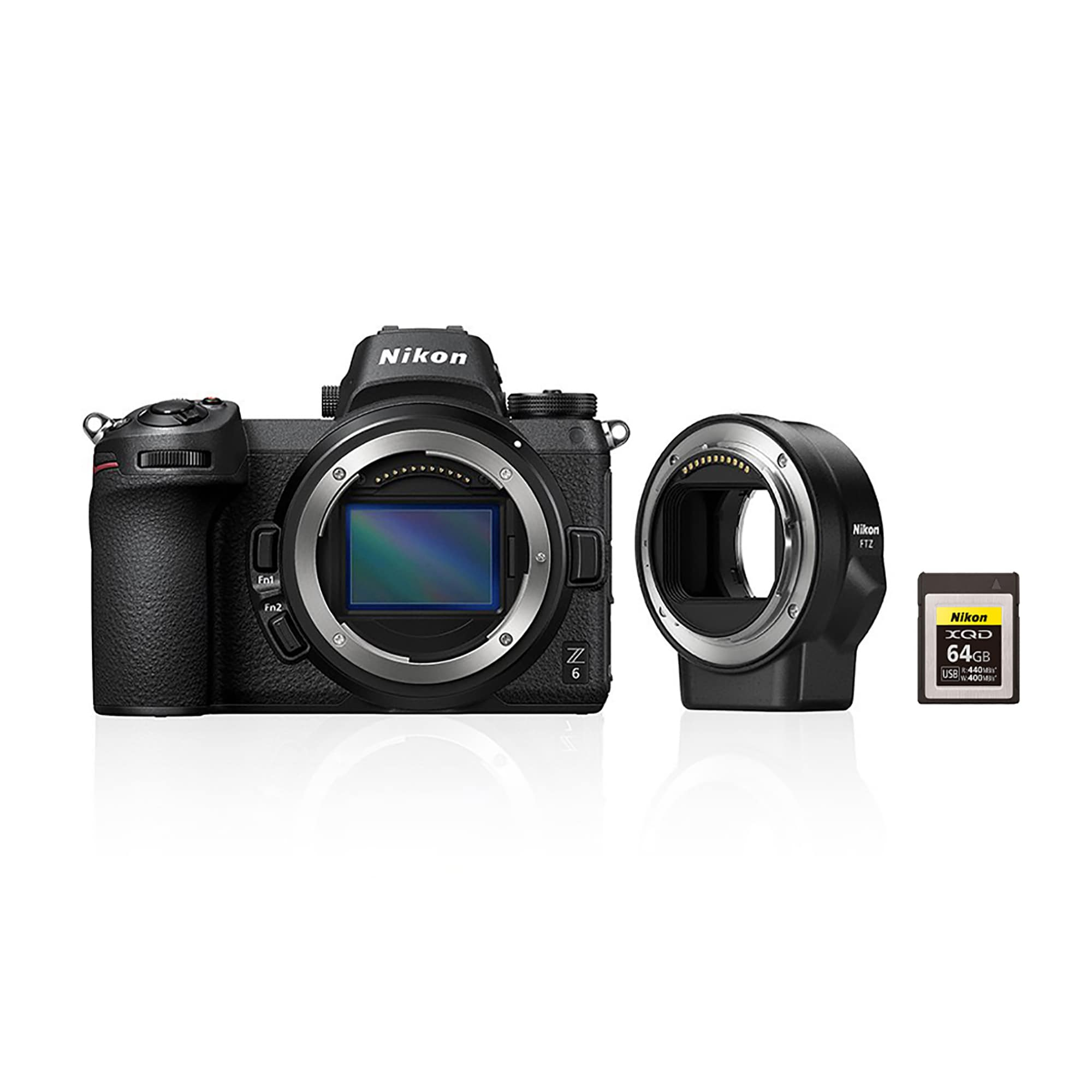 Nikon Z6 + FTZ Adapter Kit + 64GB XQD Minneskort