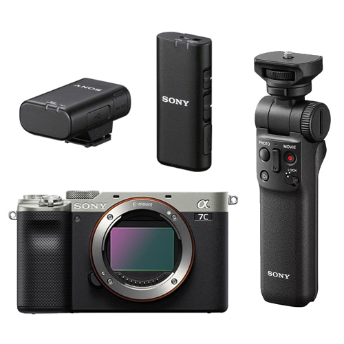 Sony A7C + GP-VPT2BT + ECM-W2BT