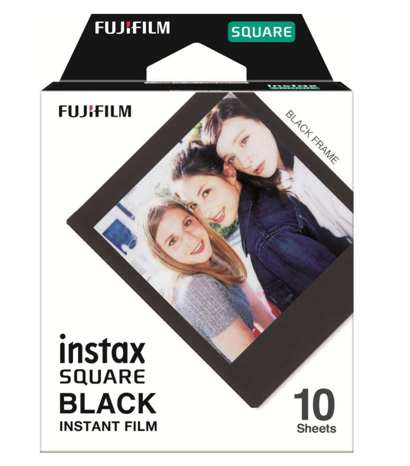 Fujifilm Instax Square Färg med Svart Ram 10st