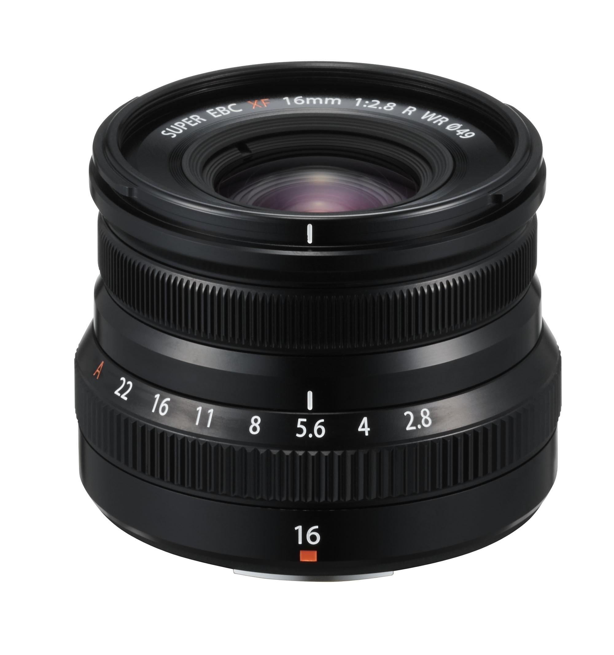 Fujifilm XF 16mm f/2,8 WR Svart