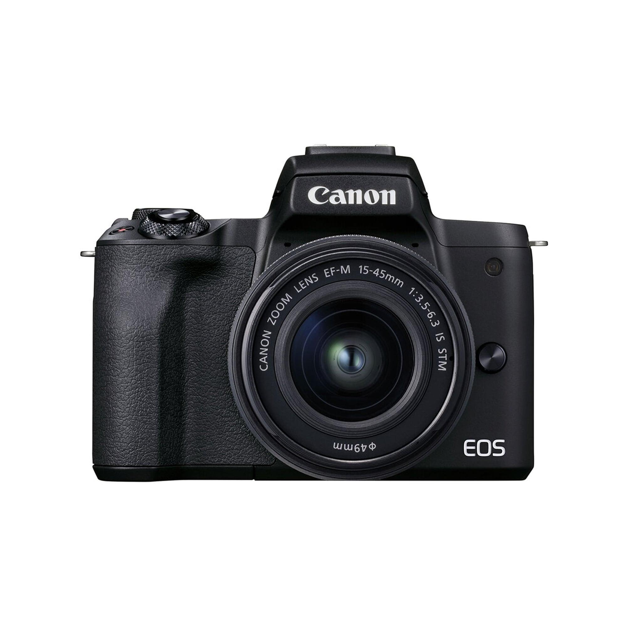 Canon EOS M50 Mark II svart kamerahus + EF-M 15-45/3,5-6,3 IS STM