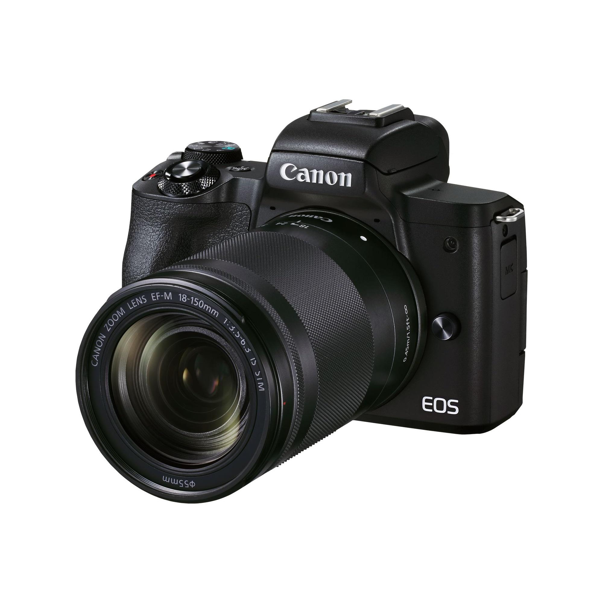 Canon EOS M50 Mark II svart kamerahus + EF-M 18-150/3,5-6,3 IS STM