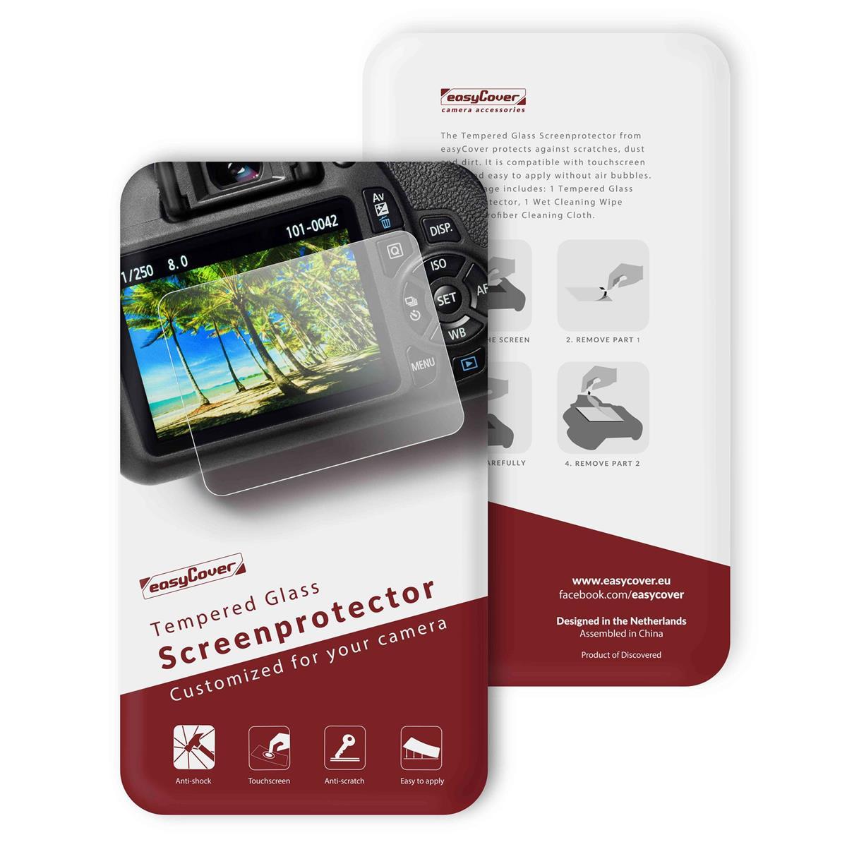 Displayskydd i härdat glas till Canon 5D3/5DS/5DSR/5D4