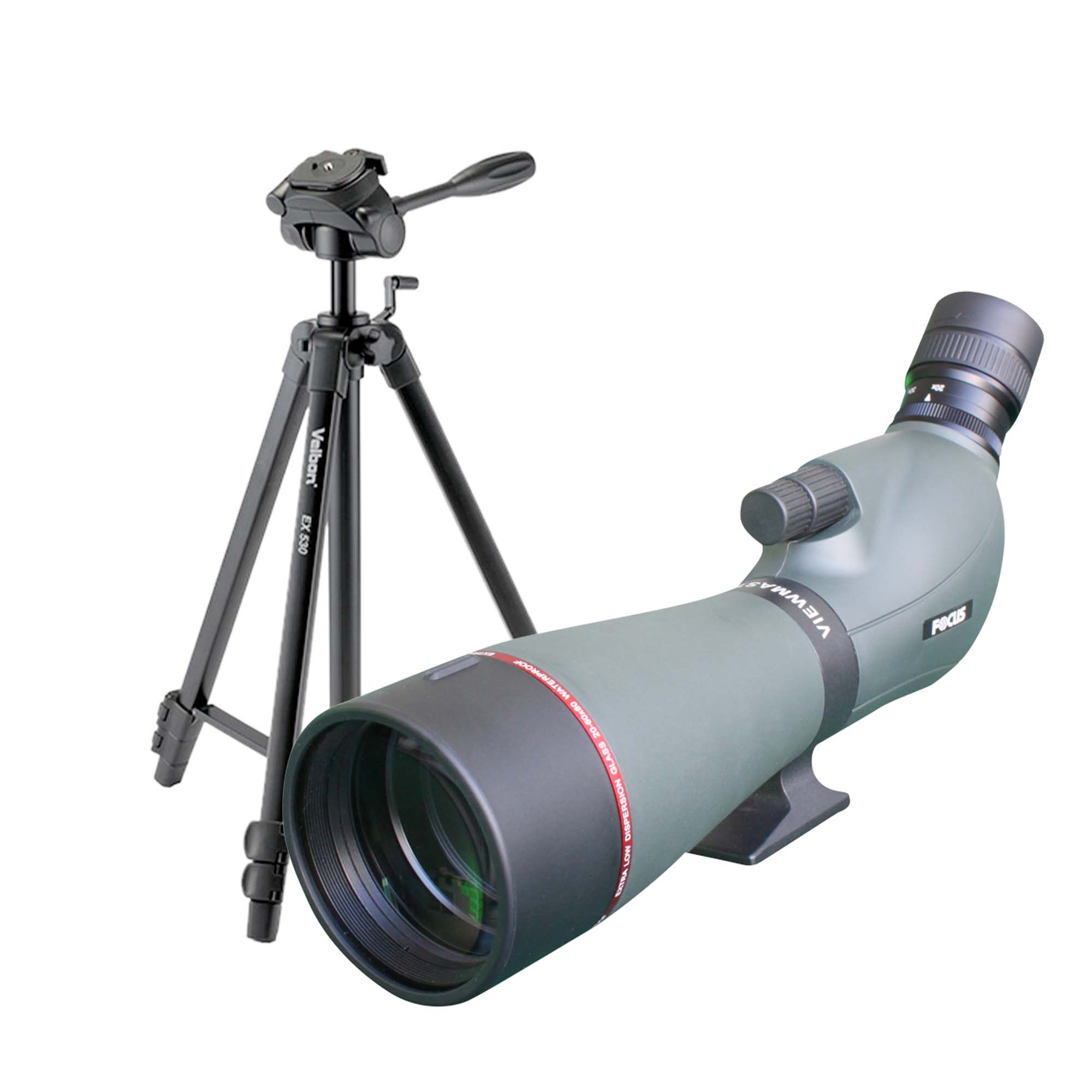 Focus Viewmaster 20-60x80 + Velbon EX-530