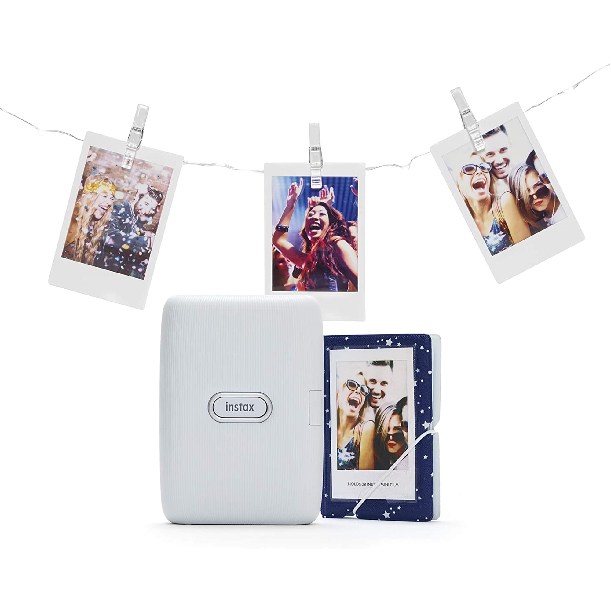 Fujifilm Instax Mini Link Ash White Printer Bundle
