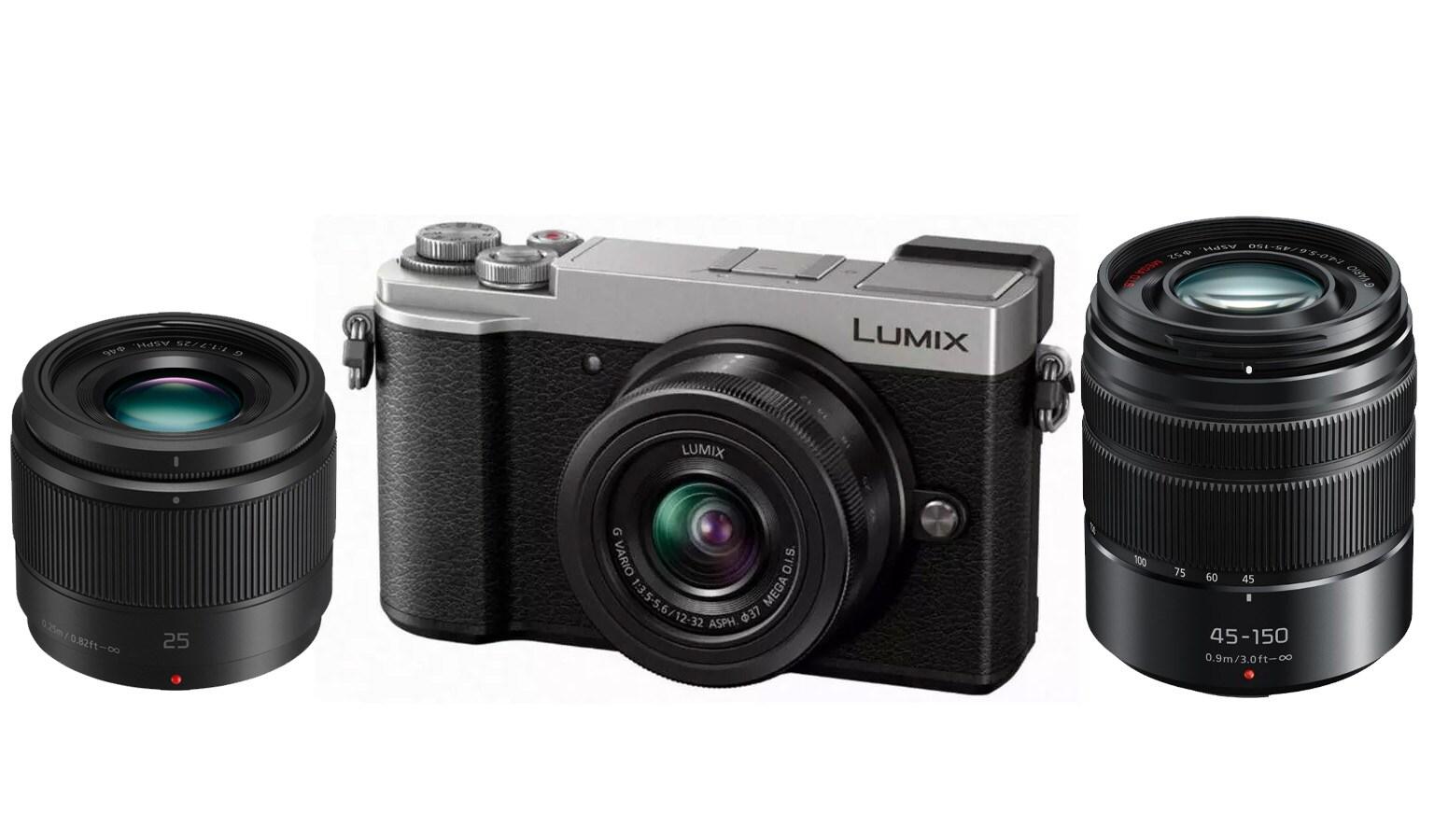 Panasonic Lumix GX9 + 12-32 + 25/1,7 + 45-150 - Silver