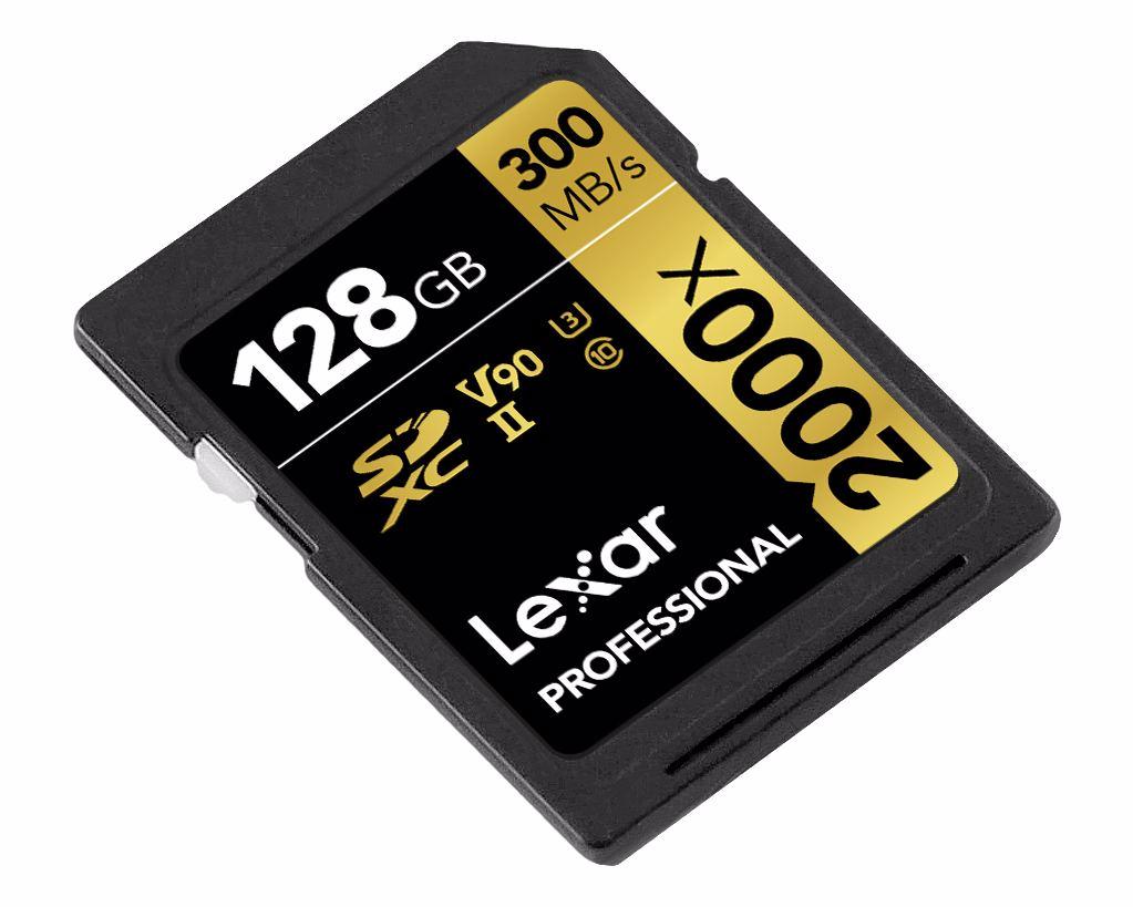 Lexar Pro 2000X SDHC/SDXC UHS-II U3(V90) R300/W260 128GB
