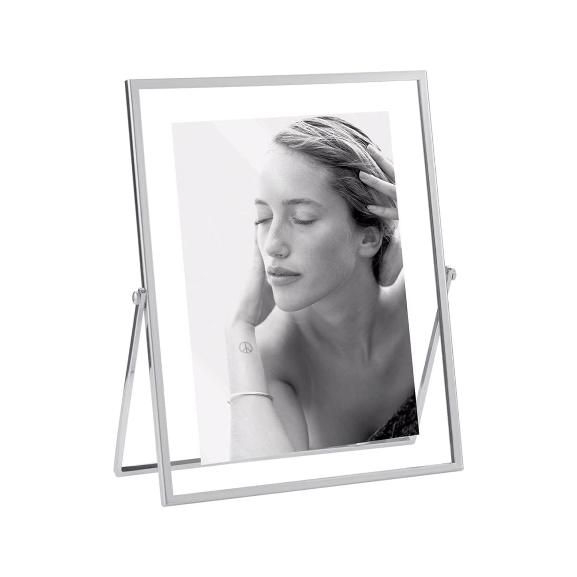Mascagni Metallram Dubbel Glas 10x15 Silver