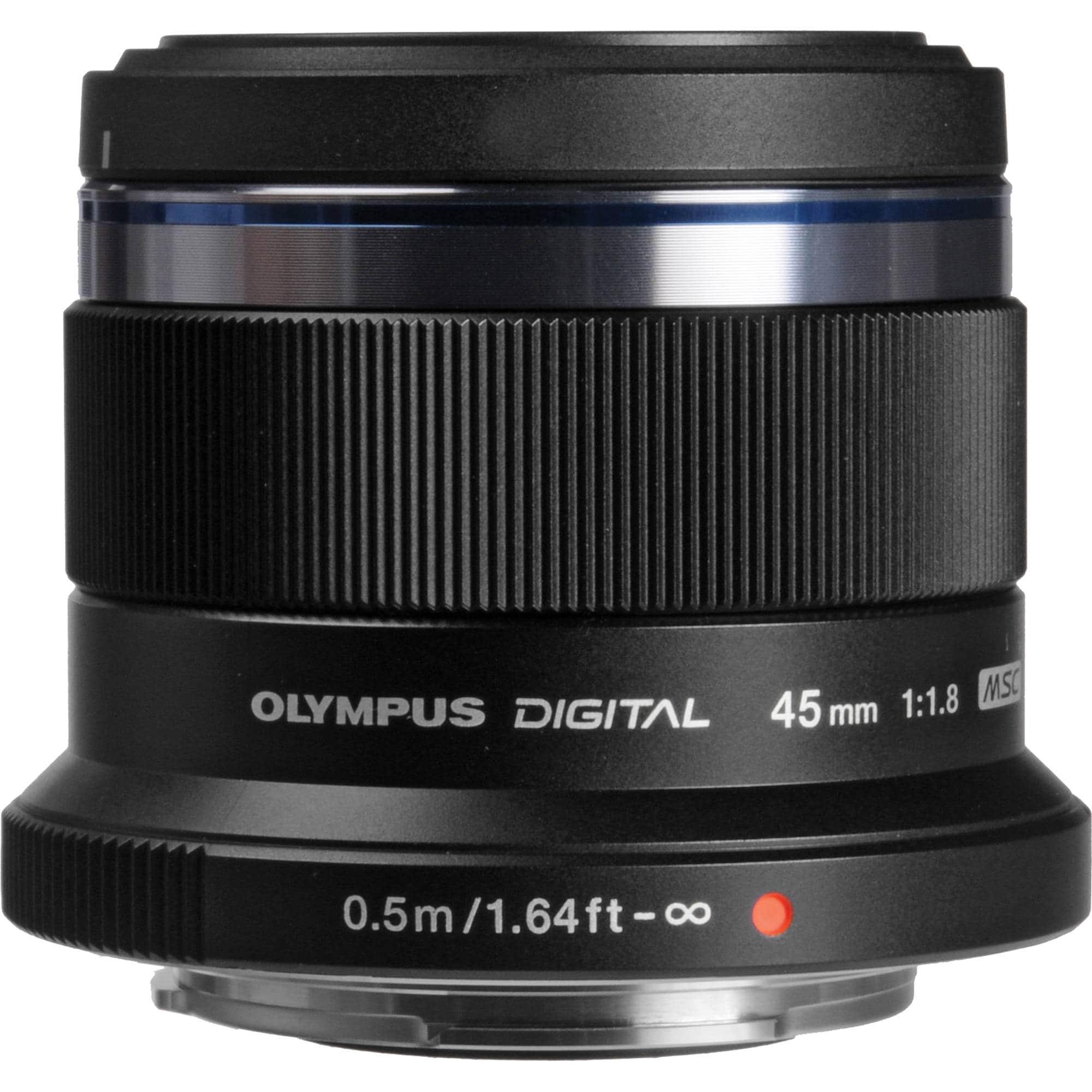 Olympus M.Zuiko Digital ED 45mm f/1,8 Svart
