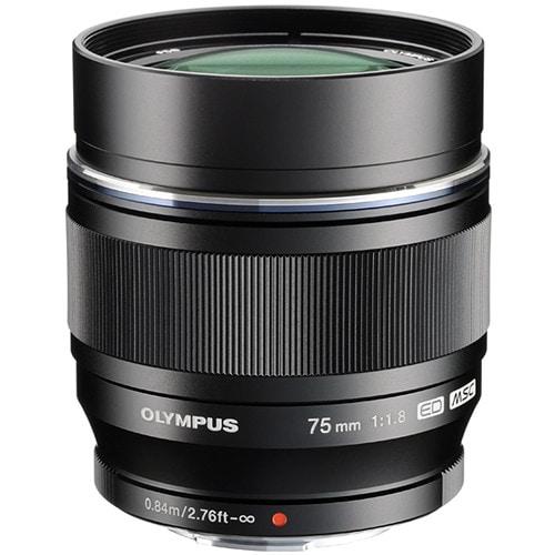 Olympus M.Zuiko Digital ED 75mm f/1,8 Svart