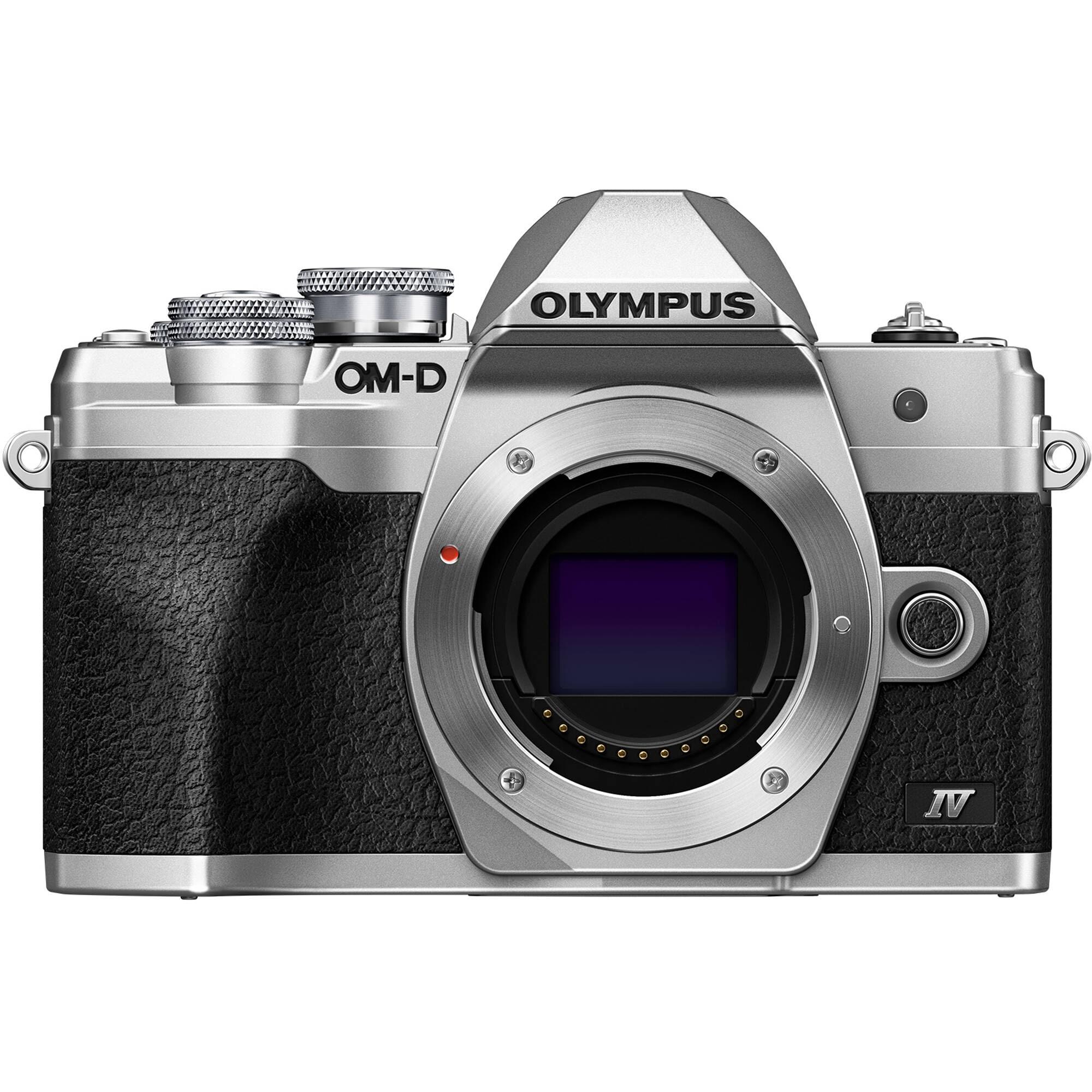 Olympus E-M10 Mark IV kamerahus silver