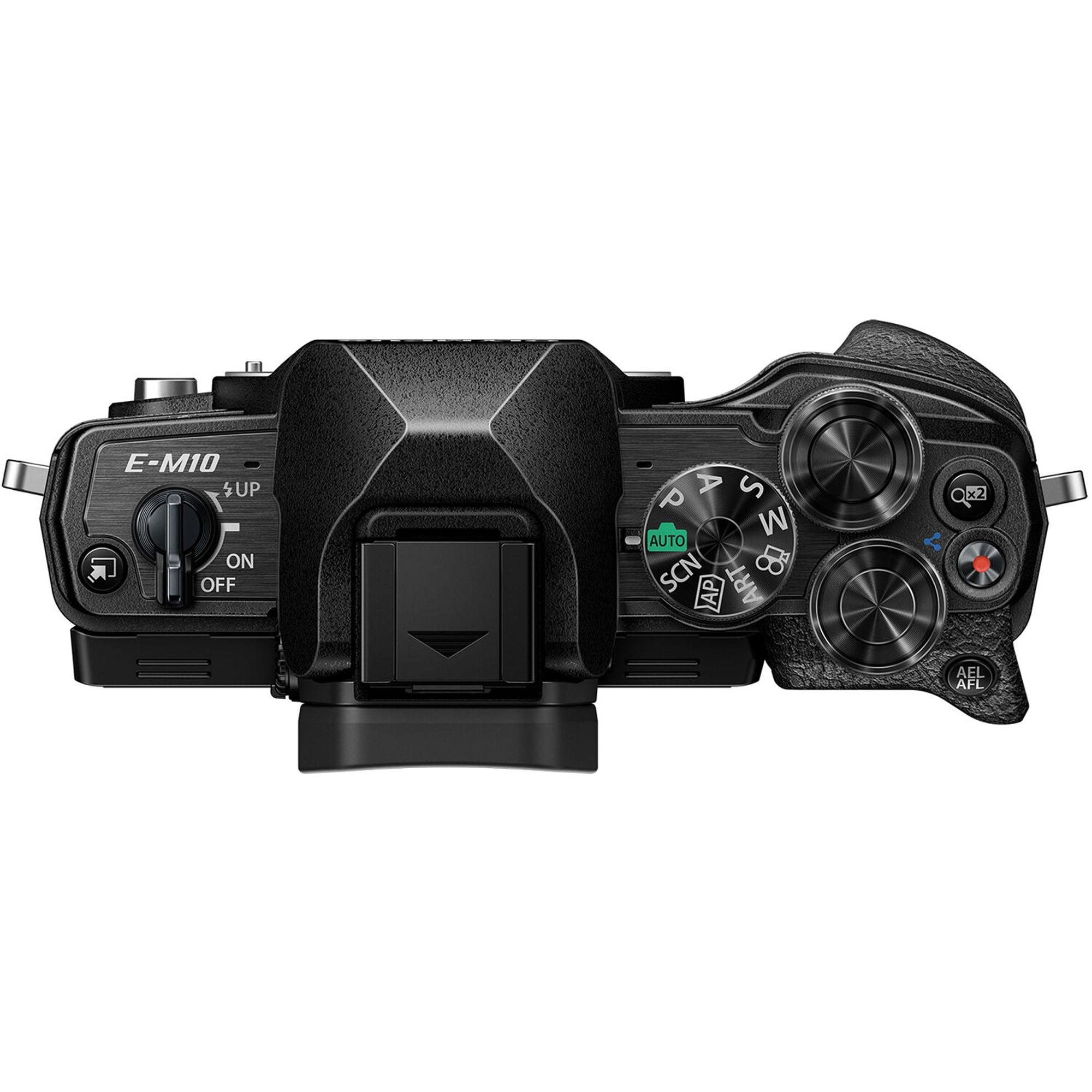 Olympus E-M10 Mark IV kamerahus svart + M.Zuiko Digital 14-42/3,5-5,6 EZ