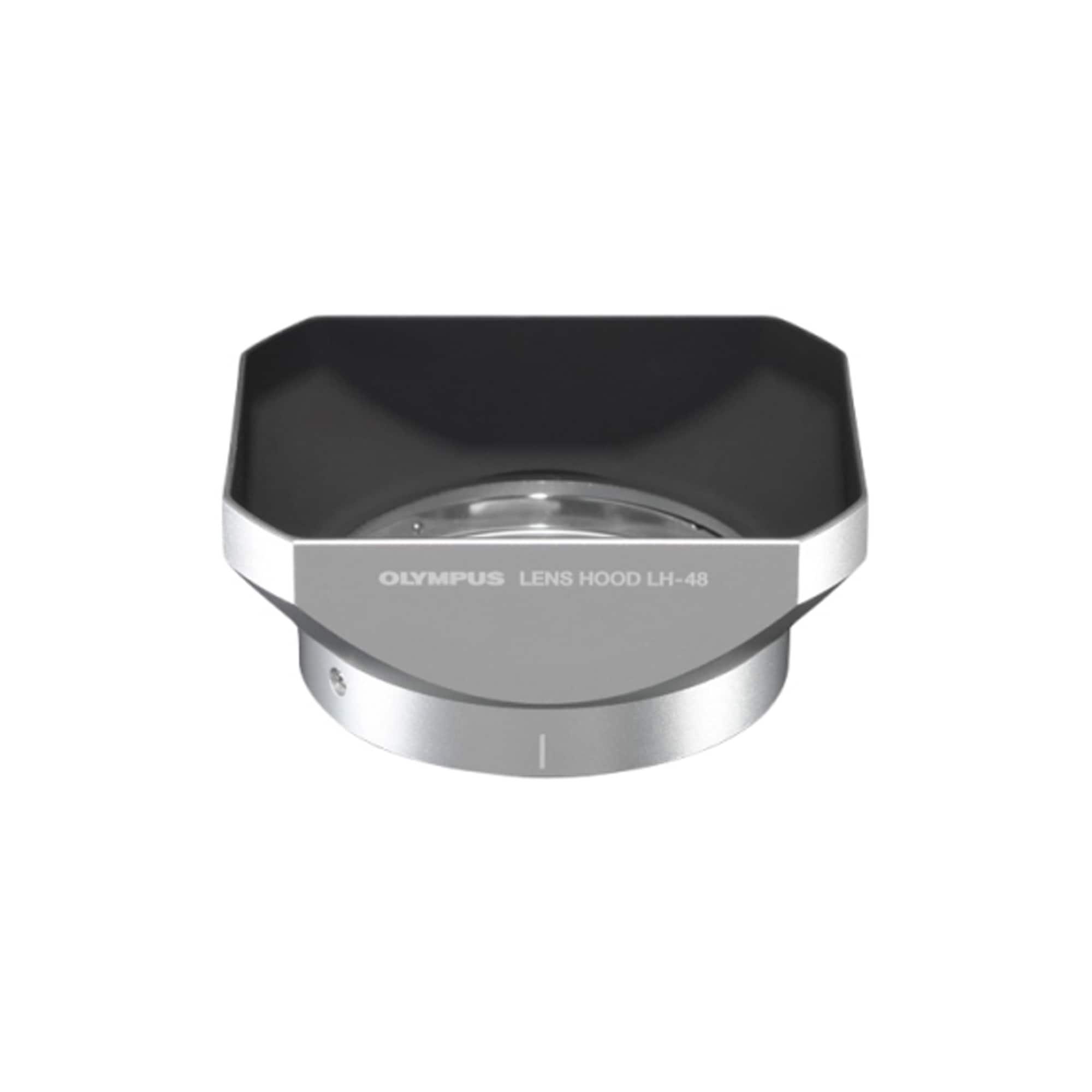 Olympus LH-48 Motljusskydd till 12/2.0 silver