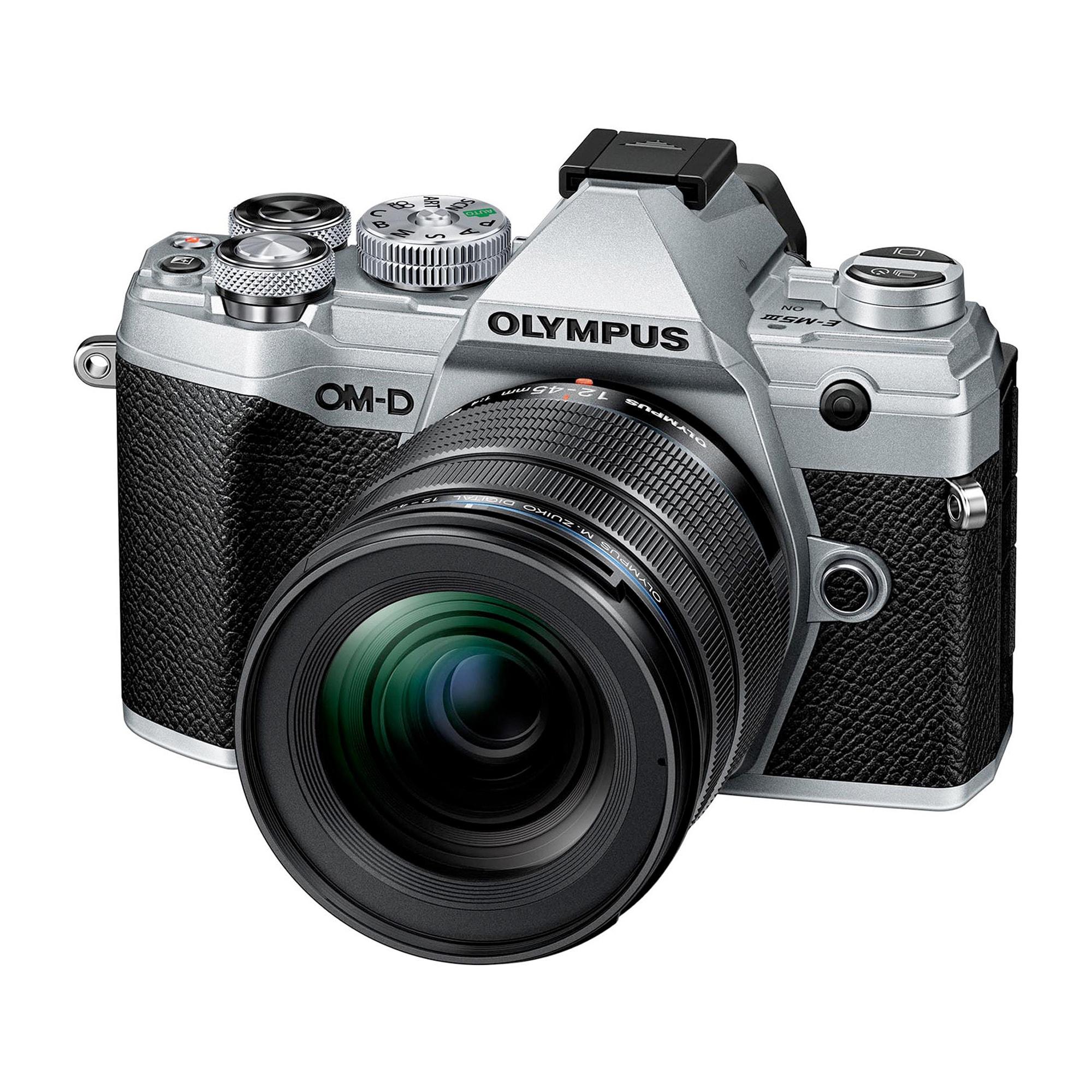 Olympus OM-D E-M5 Mark III Silver + 12-45/4,0