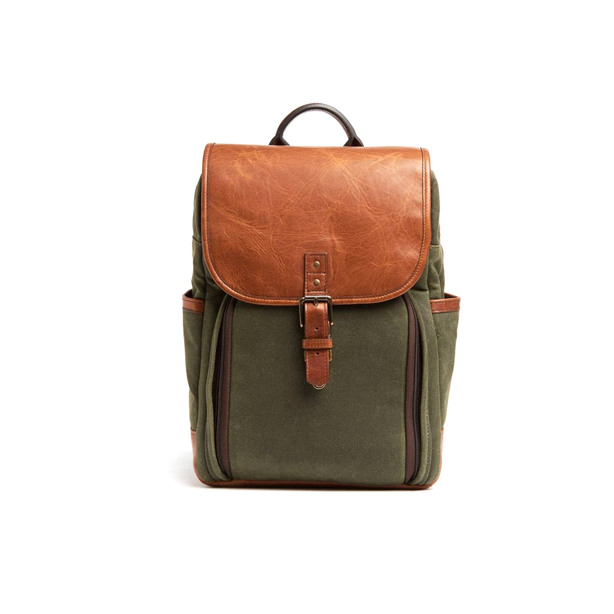 Ona Monterey Backpack Olive & Antique Cognac