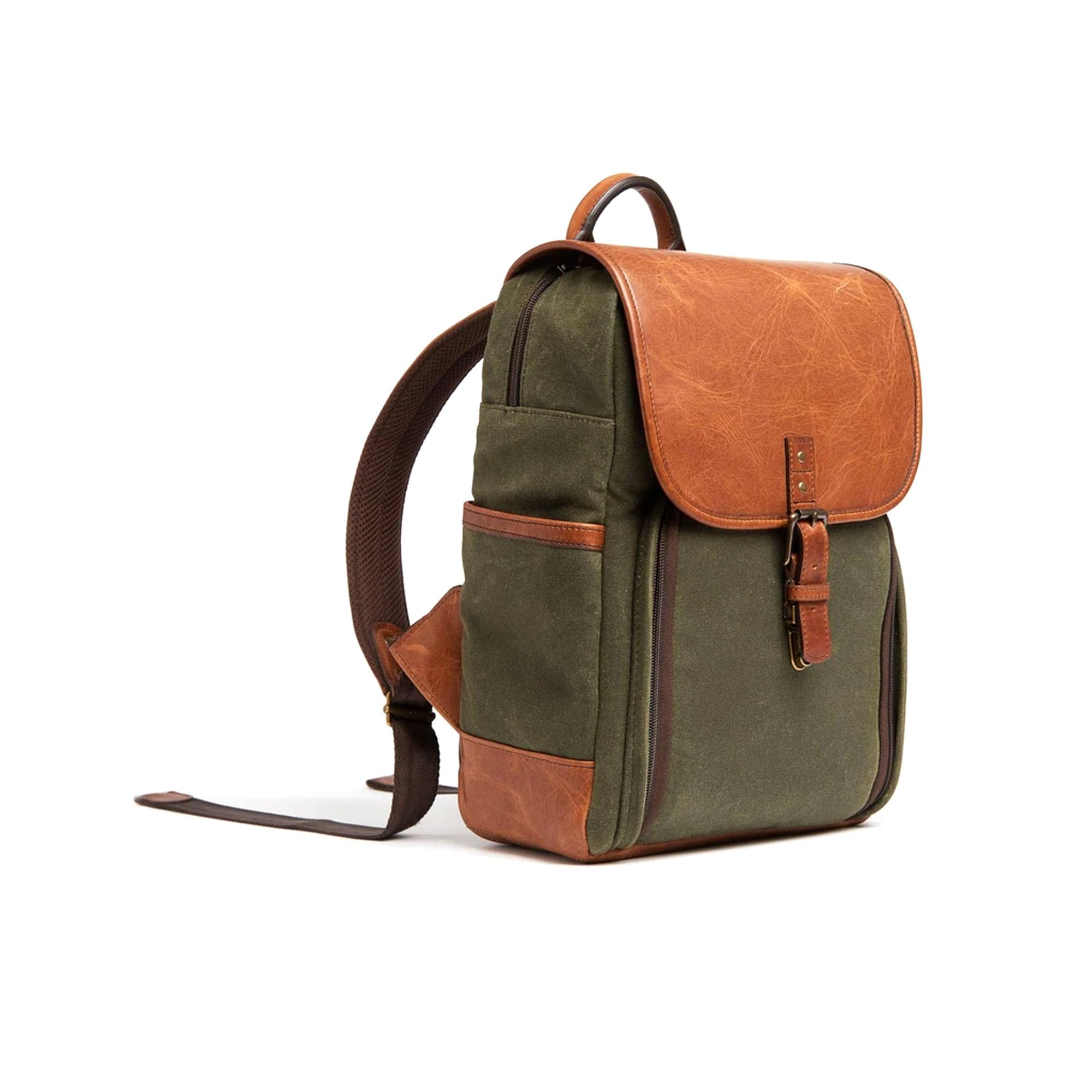 Ona Monterey Backpack Olive & Antique Cognac