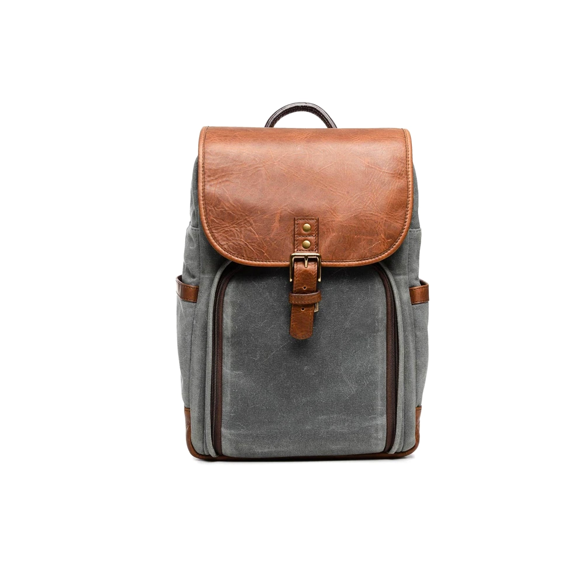 Ona Monterey Backpack Smoke & Antique Cognac