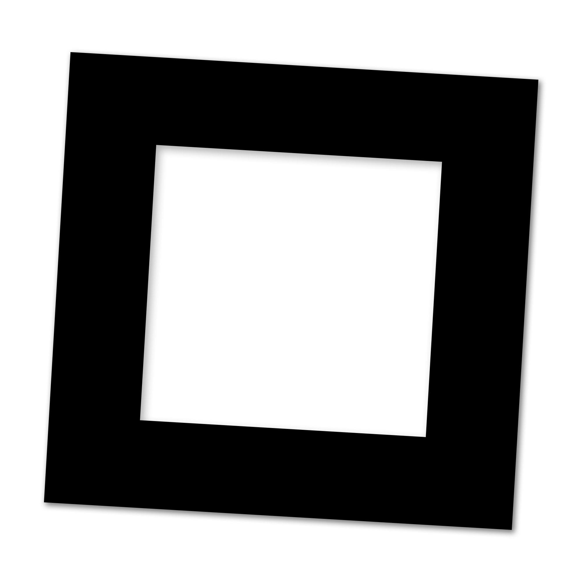 Passepartout Svart/svart 18x18