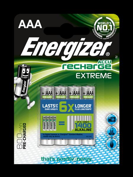Energizer Rech Extreme Aaa 800Mah Fsb2