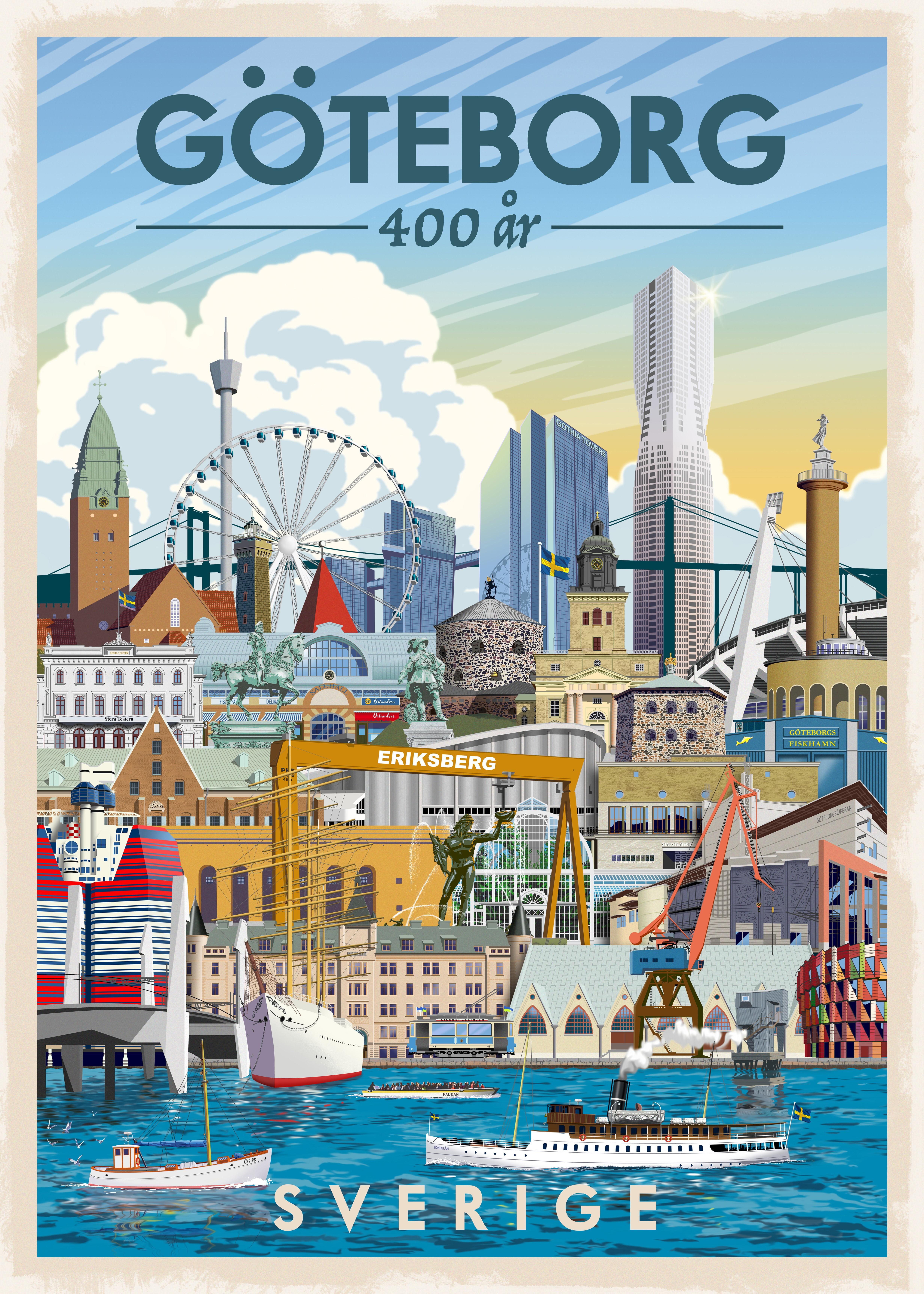 ThomasO Poster 30x40 Göteborg 400 år